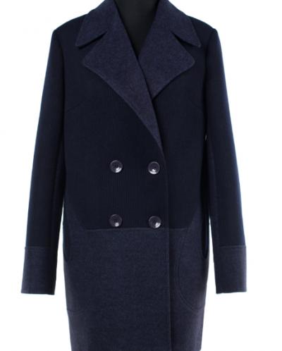 01-7298 Пальто женское демисезонное Валяная шерсть/Трикотаж