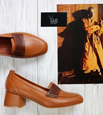 Туфли из рыжей кожи. New collection AW 20/21