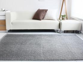Серый ковер Rough с ворсом 170 x 230 см