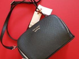 Новая кожаная сумка кроссбоди Италия черная