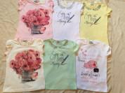 Новые летние вещи для девочки 116 - 122 см футболки ,   майки , двойки  , шорты