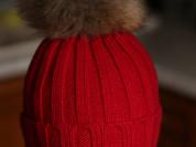 Новая шапочка р. 48-50 с натуральным помпоном