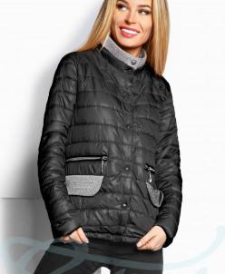 Комбинированная демисезонная куртка