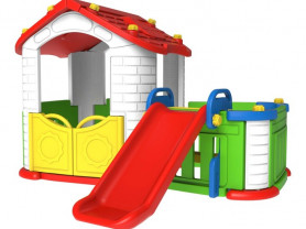 Toy Monarch Игровой домик с забором и горкой