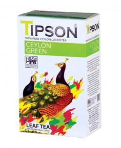 Чай Tipson Ceylon Green зеленый, 85г., картон