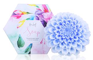 Увлажняющее мыло (хризантема голубая) Сувенирное мыло с масл