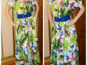 Новое длинное платье рубашка Турция 44