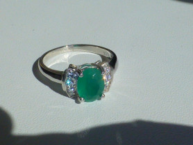 кольцо перстень серебро 925* + авантюрин + цирконы