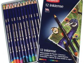 Набор из 12 акварельных карандашей Derwent Inktens