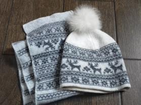 Шапка и шарф , теплые