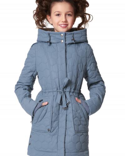 """Пальто """"Паолини"""" голубое"""