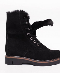 Ботинки №412-5 черный замш