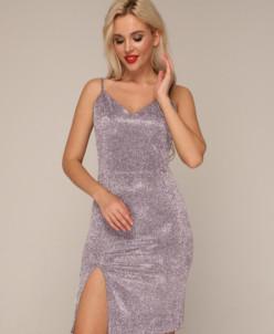 Платье 303 серебро-хамелеон