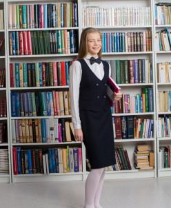 Прямая юбка, зауженная книзу старшая школа