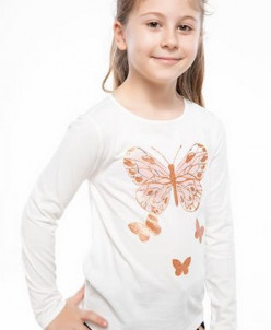 Kelebek Baskılı Bluz