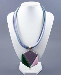 Колье из муранского стекла Mozaic violet М-10,7фиол