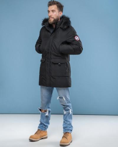 Черная парка Canada зимняя высокого качества модель 6010