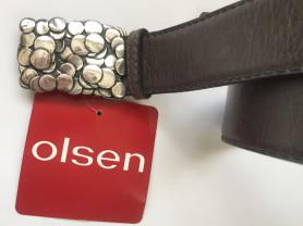 ремень Olsen из кожи , новый