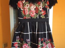 Нарядное платье в стиле D&G размер S