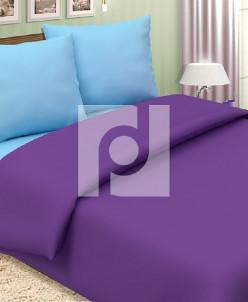 КПБ 1,5 спальный из поплина Черника со сливками