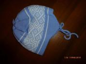 шапка вязаная Pink&Blue Knitwear на 6-12мес.,нов