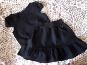 Комплект юбка и жилет. (До 128)