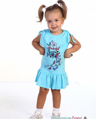 Платье детское П-10 (кулирка)