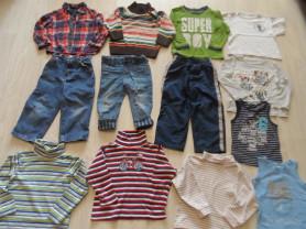 Большой пакет фмрменной одежды парню на 1-4 года