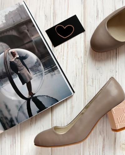 Кожаные туфли на удобном каблучке. New Collection 18