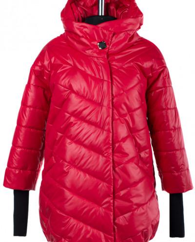 04-1722 Куртка демисезонная (Синтепон 150) Плащевка Красный