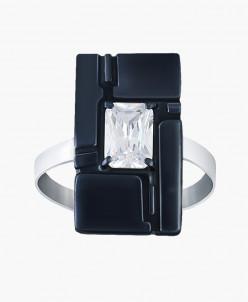 Кольцо из серебра Венеция с нанокерамикой Юмила