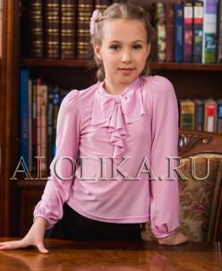 Трикотажная блузка  В*италина розовая