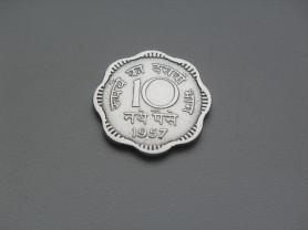 Монета 10 Новых Пайс 1957 год Индия