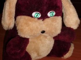 Мягкая игрушка собака с зелеными глазами 25 см