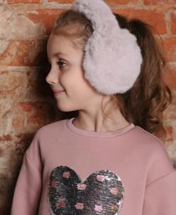 Меховые наушники для девочки