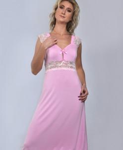 """Ночная сорочка """"МИЛЕНА"""" премиум (светло розовый №2)"""