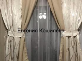 Шторы и тюль для кухни, новые, общий размер штор