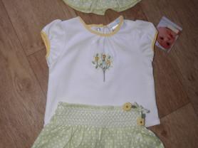 Юбка+футболка+панама Vitamins Baby (CША) 9-12 мес