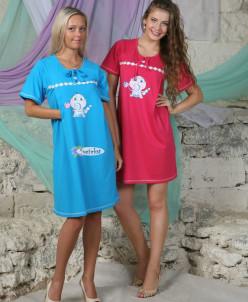 Ночная сорочка для кормящих мам (модель: 87)