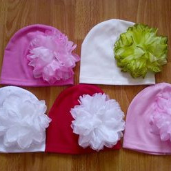 шапка хб с цветком размер на 3-5лет