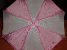 Зонт детский бело-розовый диаметр раскрытого 52 см