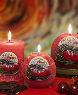 свеча Вишня в шоколаде Шар 80мм