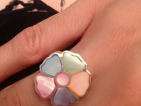серьги и кольцо новые серебро италия