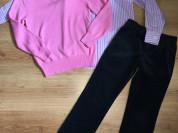 Рубашка, пуловер и вельветки Ralph Lauren р.134+