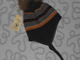 Новая зимняя шапка Kotik, ОГ 50 см