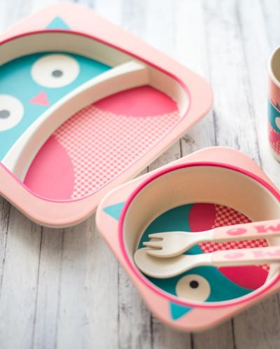 Набор детской посуды 5 предметов Совенок