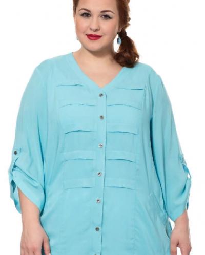 Блузка бирюзовая 16236