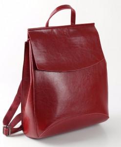 Женский кожаный рюкзак W048 Красный