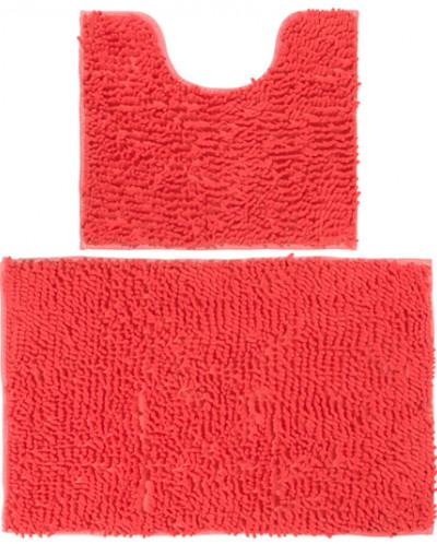"""Набор ковриков 2 шт. 50*45*2,5 см и 80*50*2,5 см """"Коралловый"""