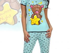 Красивая пижама с милым медвежонком!!!100%Хлопок!
